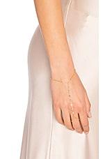 7 CZ Finger Bracelet in Gold