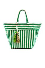 JADEtribe Valerie Medium Tote Puka in Green