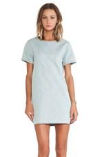 LA Dress in Quilted Denim Indigo