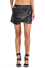 Light My Fire Skirt in Black Leather