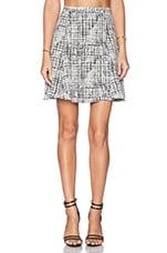 JAGGAR Herron Skirt in White Check