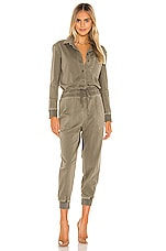 James Perse Mixed Media Jumpsuit in Sergeant