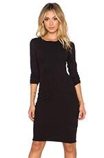 Skinny Scoop Back Dress in Black