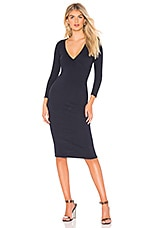 James Perse Wrap Dress in French Navy