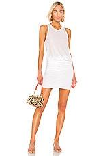 James Perse Racerback Blouson Dress in White
