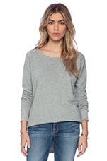 Vintage Fleece Pullover in Heather Grey