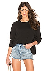 James Perse Relaxed Cropped Pullover in Black