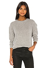 James Perse Oversized Cashmere Pullover in Heather Grey