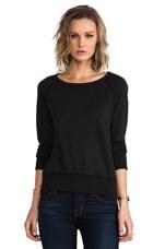 Vintage Fleece Sweatshirt in Black