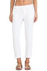 Linen Chino Pant in White