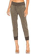 James Perse Contrast Sweatpants in Army Green Pigment