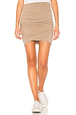 James Perse High Waist Wrap Skirt in Coyote