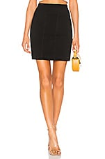 James Perse Side Split Skirt in Black