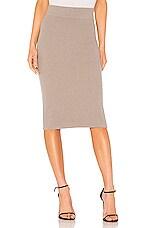 James Perse Melange Rib Skinny Skirt in Yak