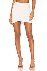 James Perse Wrap Mini Skirt in Talc