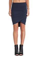 Tulip Hem Skirt in True Navy