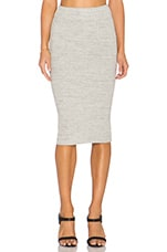 Heavy Rib Skinny Skirt in Heather Grey