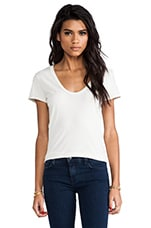 Short Sleeve Relaxed Scoop Tee in Stone