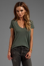 Relaxed Casual V-Neck in Jungle