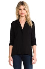 Soft Collage Button Down in Black