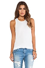 James Perse Crepe Jersey A Line Tank in White