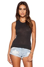 Inside Out Tomboy Tank in Carbon