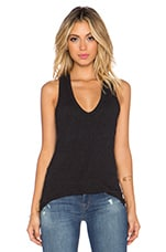 Skinny Racerback Tank in Black