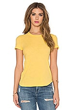James Perse Sheer Slub Crewneck Tee in Sol