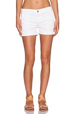 Olivia Trouser Short in Frost White