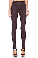 James Twiggy Legging en Noir Rouge Brillant