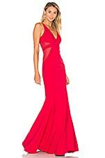 Jay Godfrey Rockefeller Gown in Deep Red & Deep Red