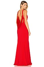 Jay Godfrey Armstrong Gown in Coral Red