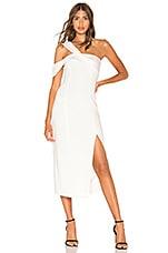 Jay Godfrey Finch Dress in Light Ivory & Diamond White