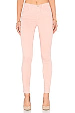 Maria High Rise Skinny in Pink Lace