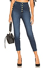 J Brand Natasha Sky High Crop Skinny in Untamed