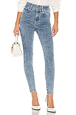 J Brand X Elsa Hosk Saturday Skinny in Everyday Blue