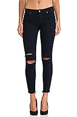 Ankle Midrise Skinny in Blue Mercy