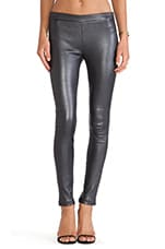 Leather Legging in Pewter