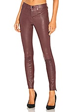 J Brand Mid Rise Skinny Leather Pant in Sugar Plum