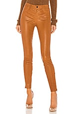 J Brand L8001 Leather Mid Rise Skinny Pant in Eclair