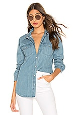J Brand Perfect Denim Shirt in Blue Shift