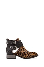 Everly Bootie with Calf Fur in Cheetah/Black