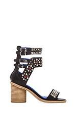 Jeffrey Campbell Tamaya Embellished Sandal in Black & Silver