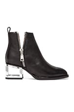 Boone Bootie in Black & Silver