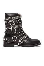 Jeffrey Campbell Cruzados Boot in Black & Silver