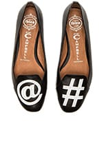 Jeffrey Campbell At Hashtag Flats in Black with White
