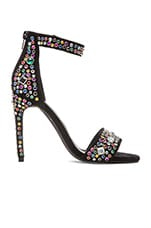 x REVOLVE Meryl Embellished Heel in Black Suede Multi