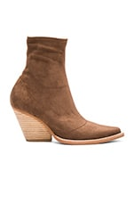 Walton Booties in Brown Suede