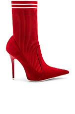 Jeffrey Campbell Starter Bootie in Red Suede