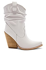 Jeffrey Campbell Volcanic Boot in White Leather Stack